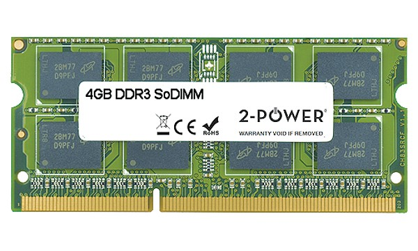 255 G1 Notebook 4GB MultiSpeed 1066/1333/1600 MHz SoDiMM