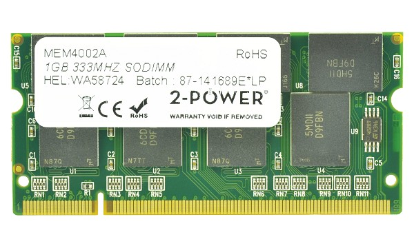 Satellite P30-131 1GB PC2700 333MHz SODIMM